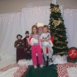 And here are the munchkins with Santa.