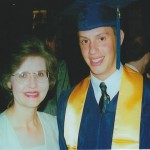 Mom and Will at his high school graduation in June of 2000.