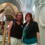 Amanda and I at the Library of Congress in DC