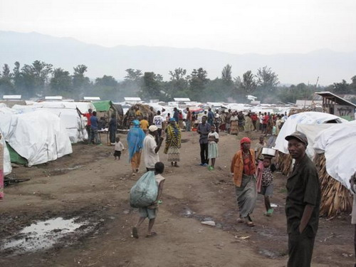 Refugee Camp - Picture from Wikimedia Commonas