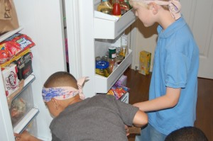 Scavenger Hunt - one weapon was in the fridge!