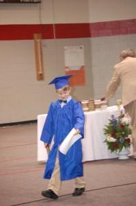 Got his diploma!