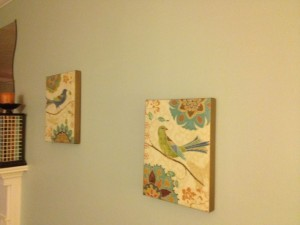 To the left of my desk - more birds! Found these cheap at TJ Maxx and loved them immediately
