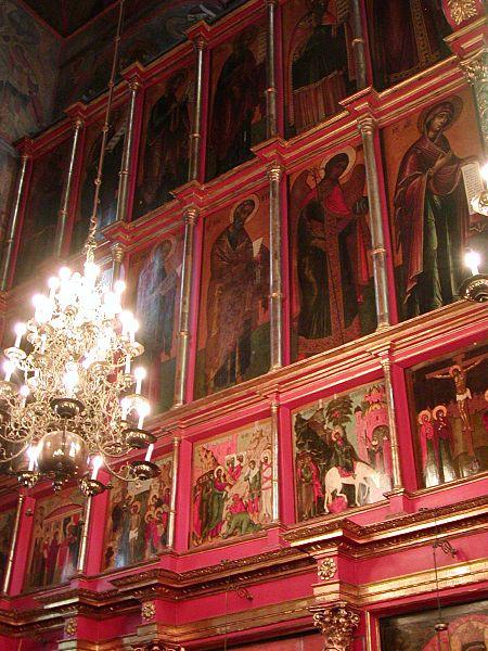 An iconostasis