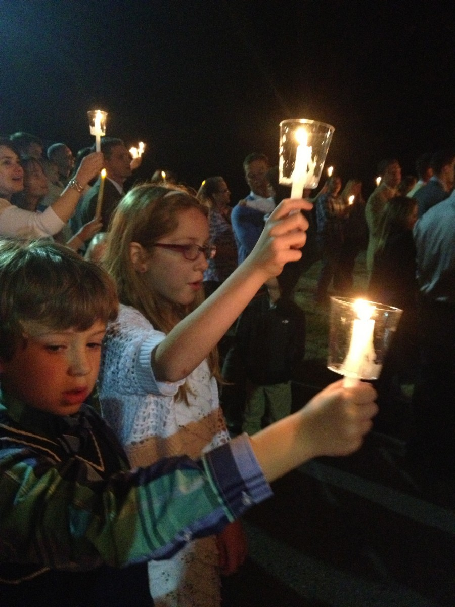 My kids celebrating Pascha back in April.