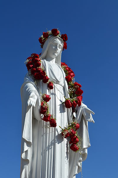 Statue_of_mary_in_grotto_of_mater_dei_high_school