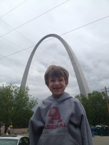 Ephraim and I took a trip to St. Louis with the 1st graders