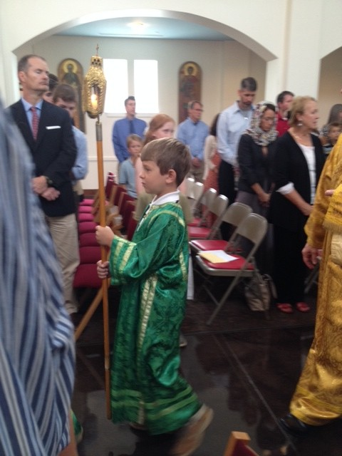 Ephraim was an acolyte for the first time!