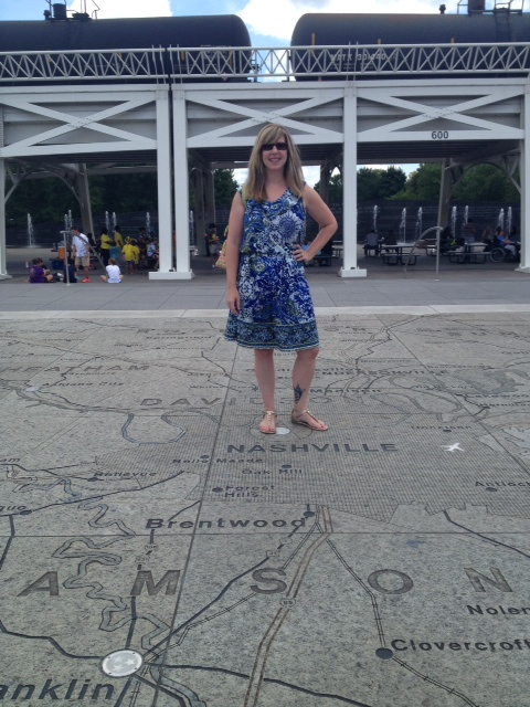 This is me in Nashville, standing on Nashville.