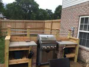 New outdoor grill kitchen