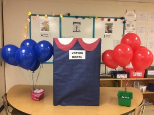 We did an election unit and had a mock election!